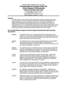 thumbnail of 18 FY17 Direct Support Training Stipend Policy & Forms