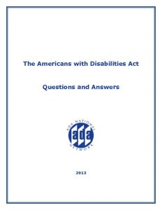 thumbnail of ADA Questions and Answers 2013