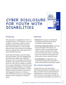 thumbnail of Cyber Disclosure for Youth with Disabilities