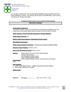 thumbnail of Board Meeting Public Notice 04-20-17