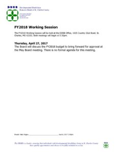 thumbnail of Working Session Public Notice