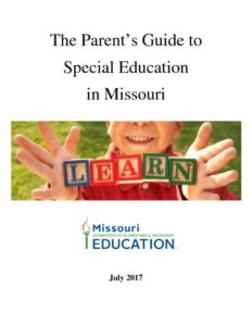 thumbnail of The Parent's Guide to Special Education July 2017_0
