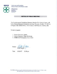 thumbnail of Notice of Public Meeting 10-19-2