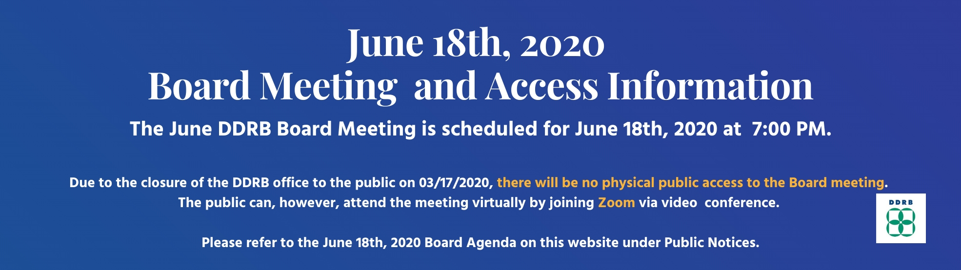 DDRB June 18th Board Meeting Website Notice V2