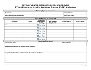 thumbnail of Emergency Housing Assistance Form FY20