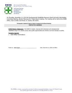 thumbnail of December 19, 2019 Nominating Committee Notice